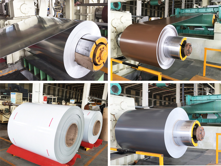 cheap factory price 1100 PE brown Color coated aluminum sheet coil