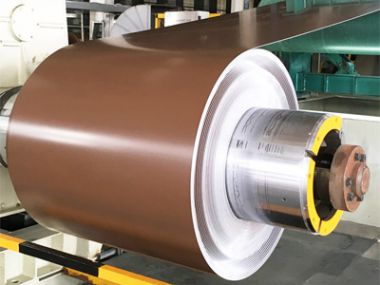 Cheap price PE brown Color coated aluminum sheet coil