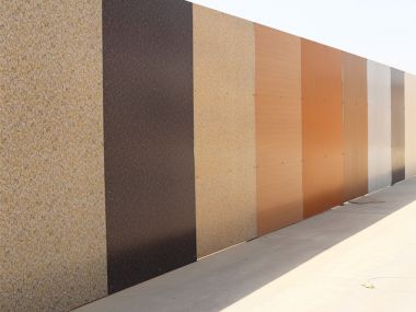1100 alloy pre painted aluminum cladding wall panel